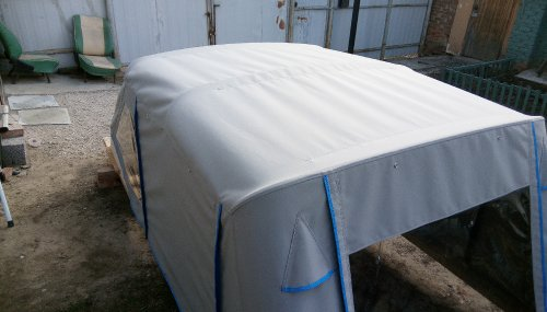 ход-й тент и дуги на макете катера готовый к отправке в Салехард (4)