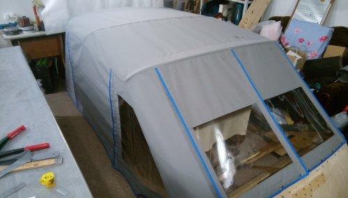 ход-й тент и дуги на макете катера готовый к отправке в Салехард (7)