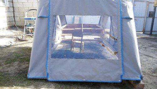 ход-й тент и дуги на макете катера готовый к отправке в Салехард (9)