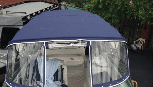 ходовой тент(крыша тента единая)