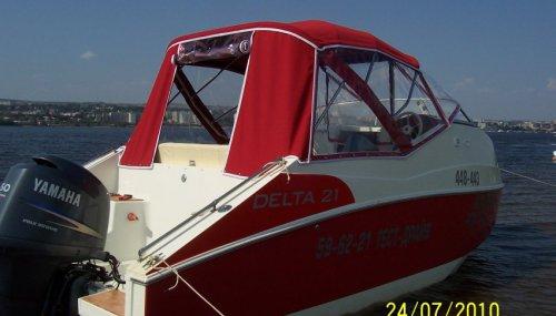 Ходовой тент на катер Delta 21